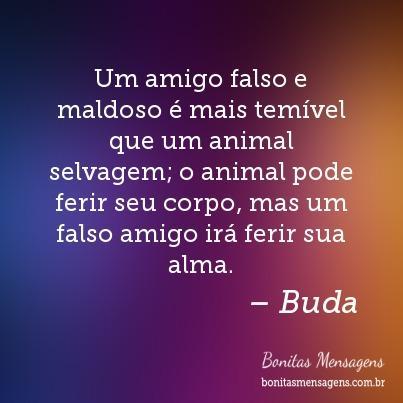 Um amigo falso e maldoso é mais temível que um animal selvagem; o animal pode ferir seu corpo, mas um falso amigo irá ferir sua alma.