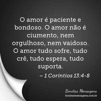o amor paciente e bondoso o amor n o ciumento nem orgulhoso nem vaidoso o amor tudo