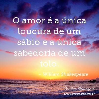 O amor é a única loucura de um sábio e a única sabedoria de um tolo.